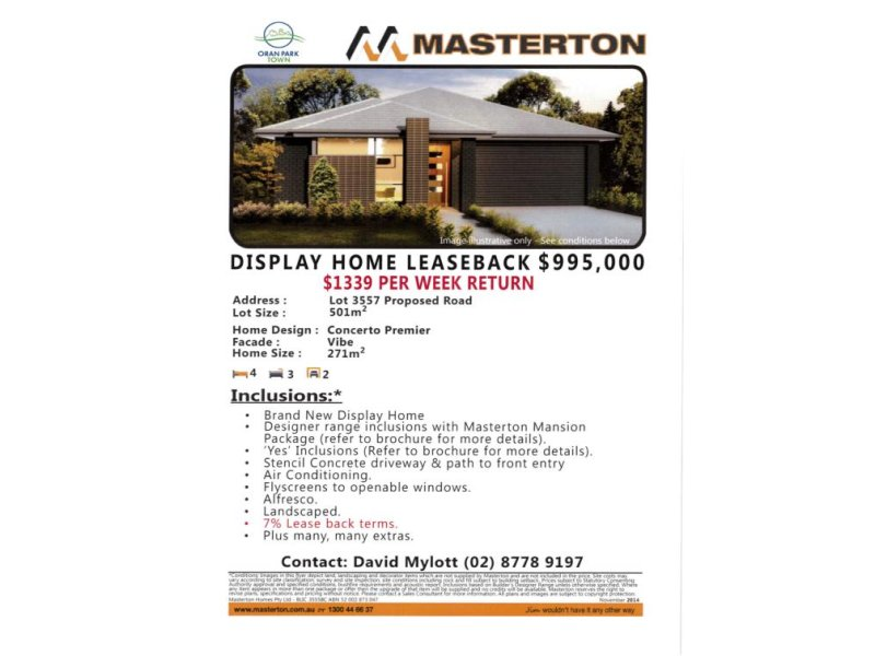 Lot 3557 Proposed Road, Oran Park, NSW 2570