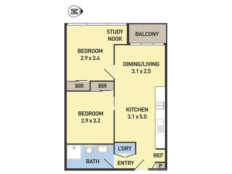 808/11 Rose Lane, Melbourne, Vic 3004 - floorplan