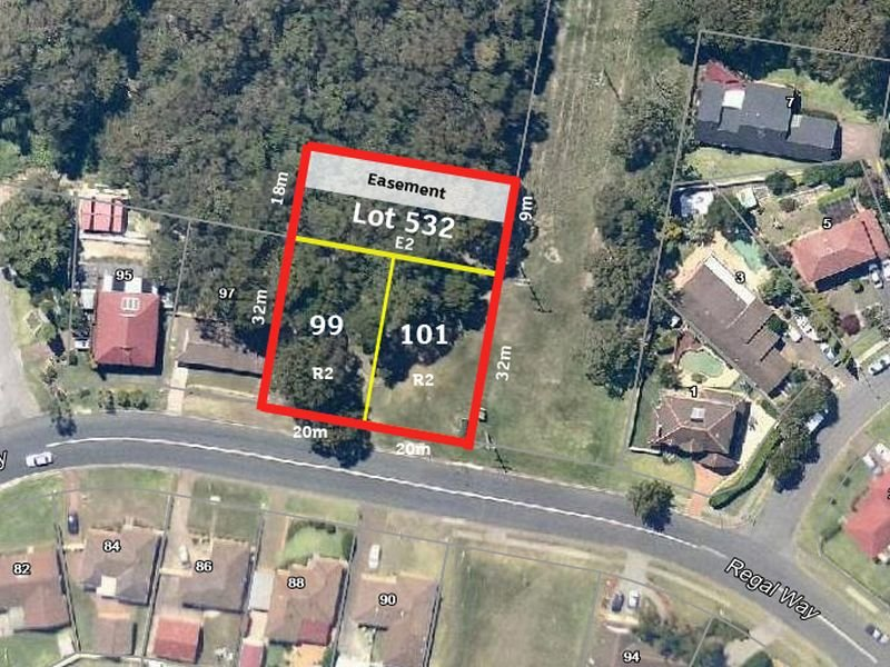 99 101 & Lot 532 in DP 605964 attached to lots Regal Way, Valentine, NSW 2280