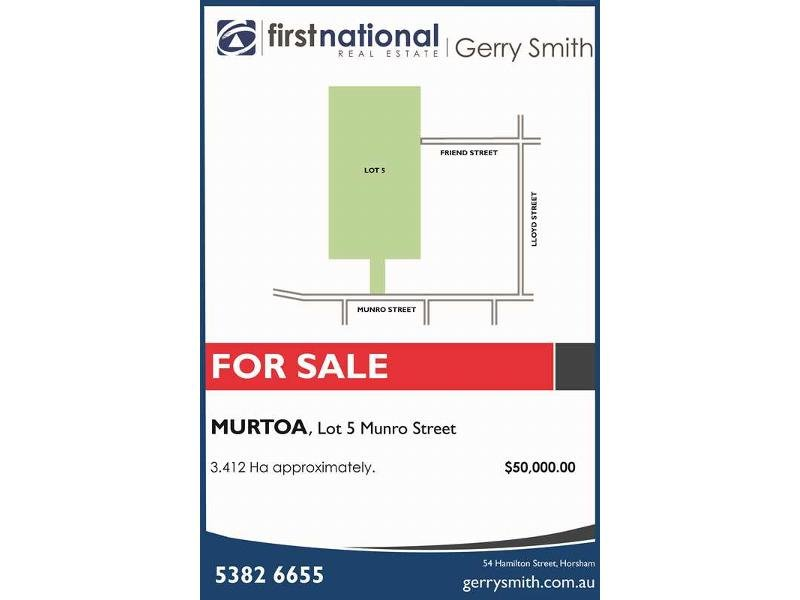Lot 5, Munro Street, Murtoa, Vic 3390