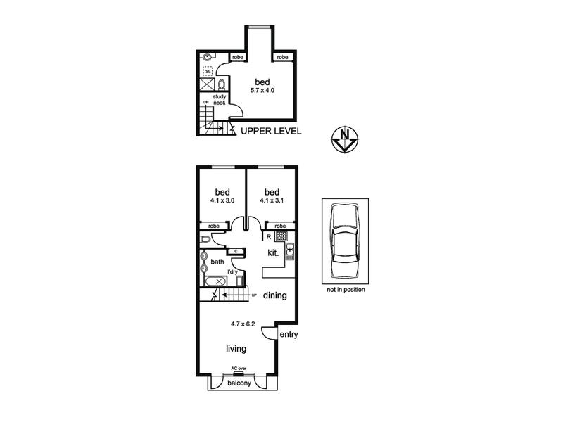 27/380 High Street, Kew, Vic 3101 - floorplan