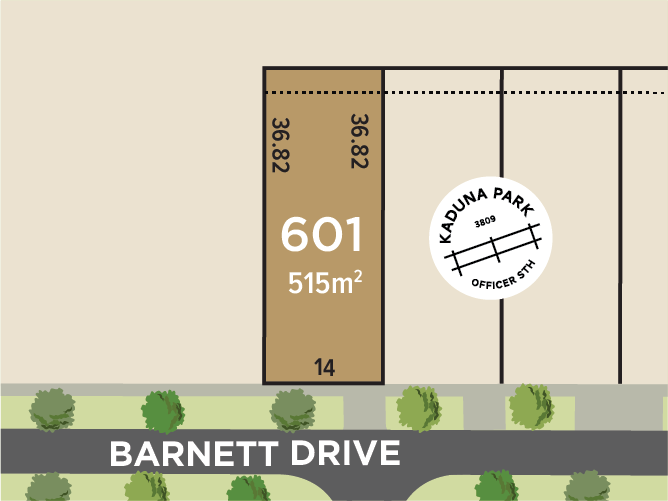 Lot 601, Barnett Drive, Officer South, Vic 3809