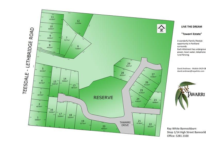 Lot 27 Tawarri Estate, Teesdale, Vic 3328