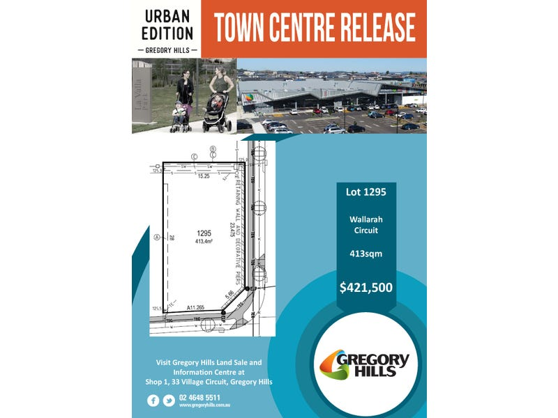 Lot 1295 Audley Circuit, Gregory Hills, NSW 2557