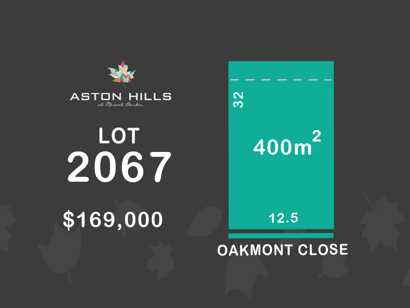 Lot 2067, Oakmont Close (Aston Hills), Mount Barker, SA 5251