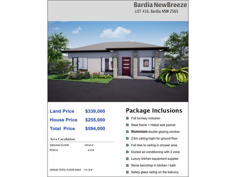 lot6030 Manunda ST, Bardia, NSW 2565