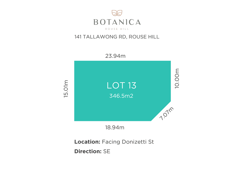Lot 13, 141 Tallawong rd, Rouse Hill, NSW 2155