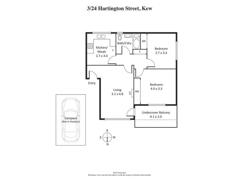3/24 Hartington Street, Kew, Vic 3101 - floorplan
