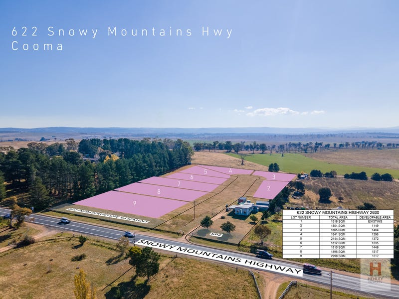 Lot 2-9 / 622, Snowy Mountains Highway, Cooma, NSW 2630