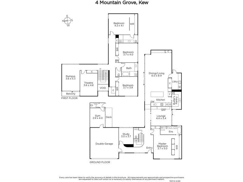 4 Mountain Grove, Kew, Vic 3101 - floorplan
