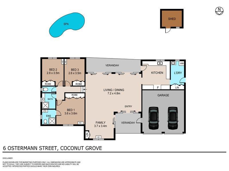 6 Ostermann Street, Coconut Grove, NT 0810 - floorplan