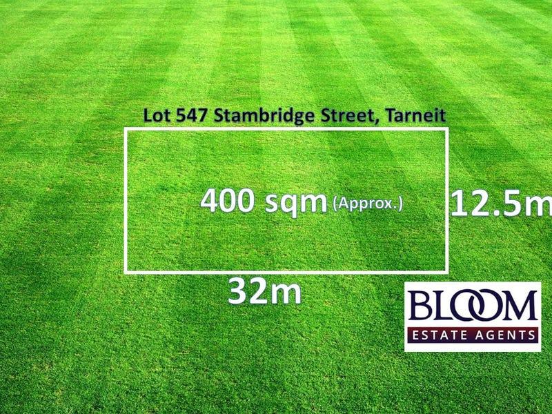 Lot 547 Stambridge Street, Tarneit, Vic 3029