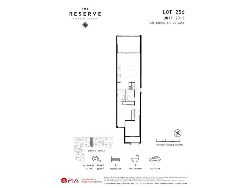 lot 256/8 Kingsborough Way, Zetland, NSW 2017 - floorplan