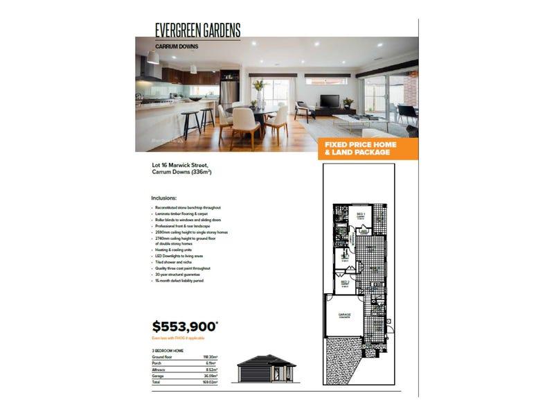 Lot 16/EVERGREEN GAR Marwick Street,, Carrum Downs, Vic 3201