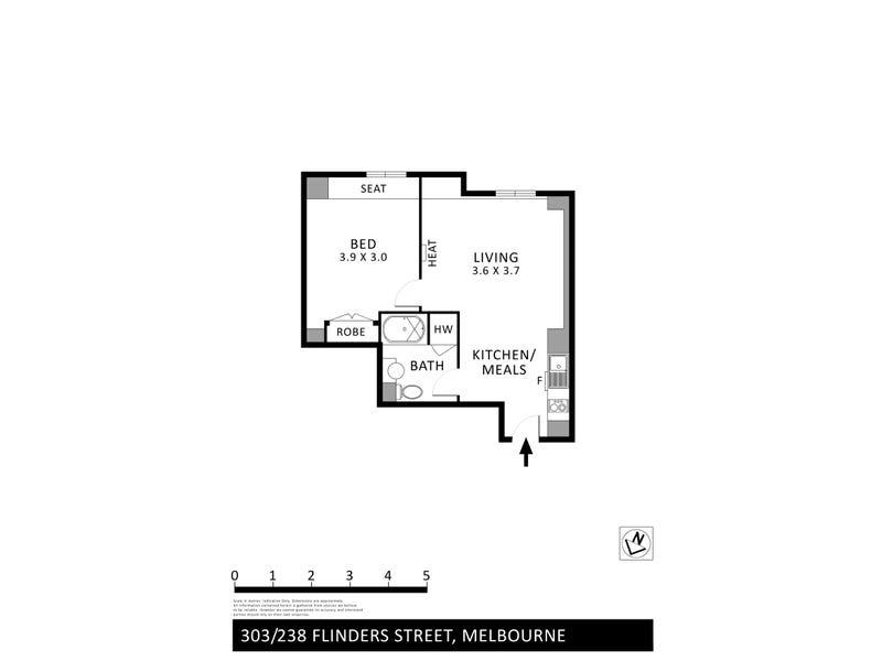 303/238 Flinders Street, Melbourne, Vic 3000 - floorplan
