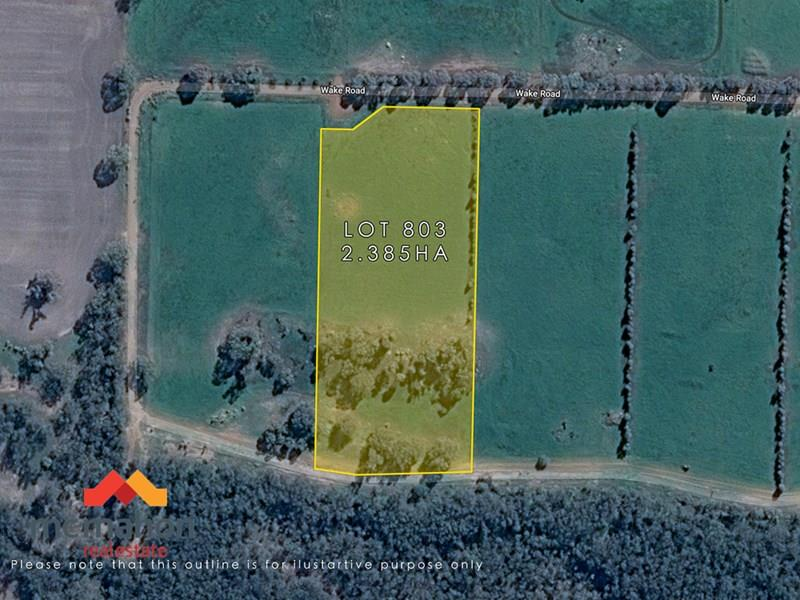 Lot 803 Wake Road, Moojebing, WA 6317