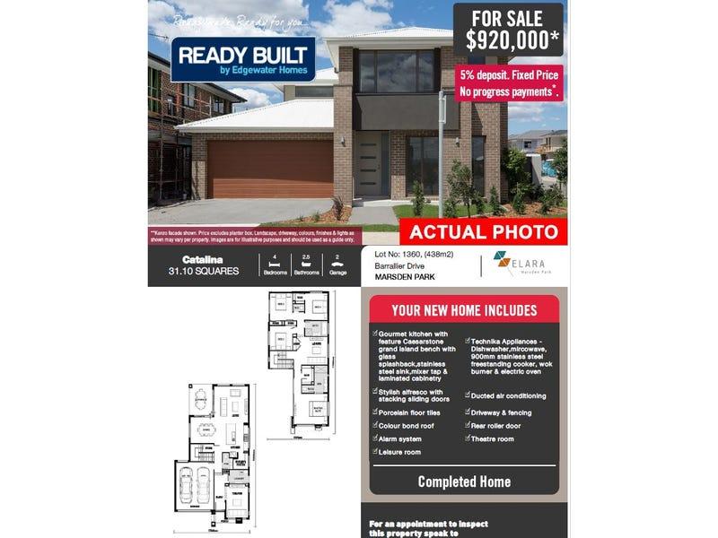 Lot 1360 Barallier Drive, Marsden Park, NSW 2765