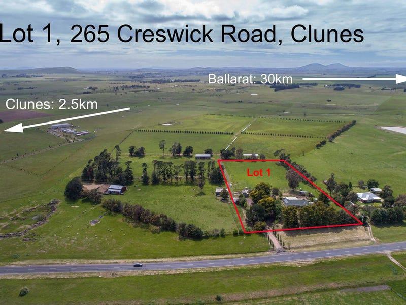 Lot 1 265 Creswick Road, Clunes, Vic 3370