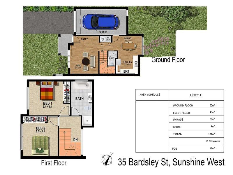 1 & 3 & 5/35 Bardsley Street, Sunshine West, Vic 3020