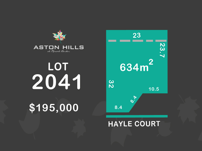 Lot 2041, Hayle Court (Aston Hills), Mount Barker, SA 5251