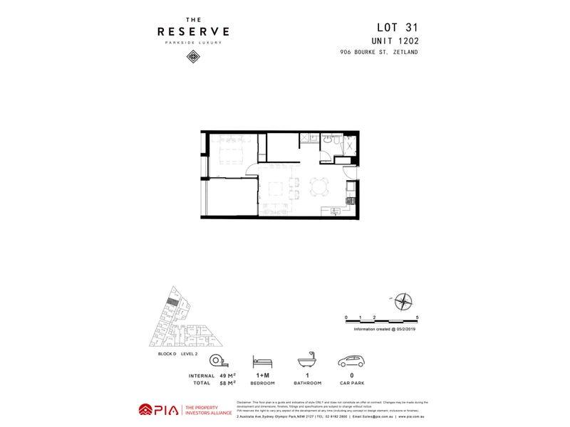 lot 31/8 Kingsborough Way, Zetland, NSW 2017 - floorplan