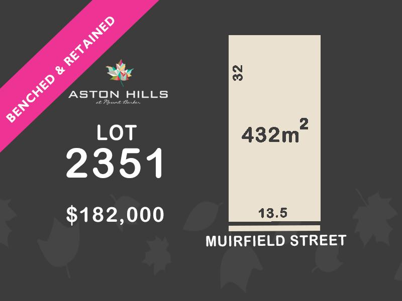 Lot 2351, Muirfield Street, Mount Barker, SA 5251