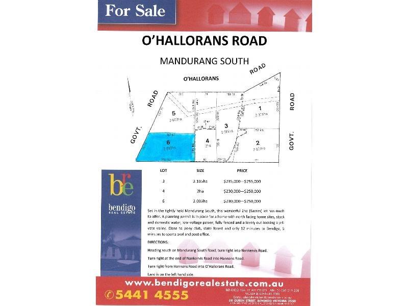 Lot 6 O'Hallorans Road, Mandurang South, Vic 3551