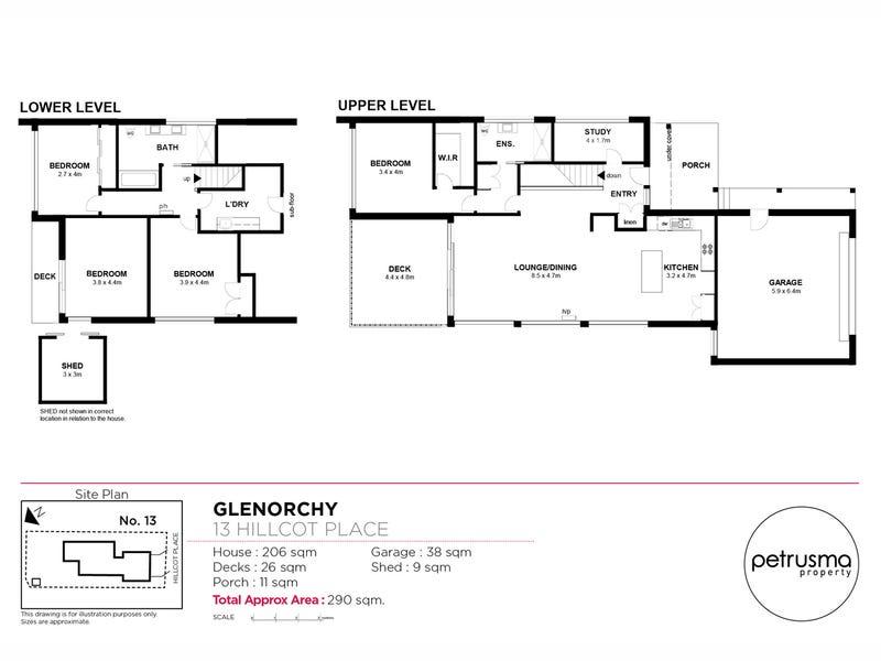13 Hillcot Place, Glenorchy, Tas 7010 - floorplan