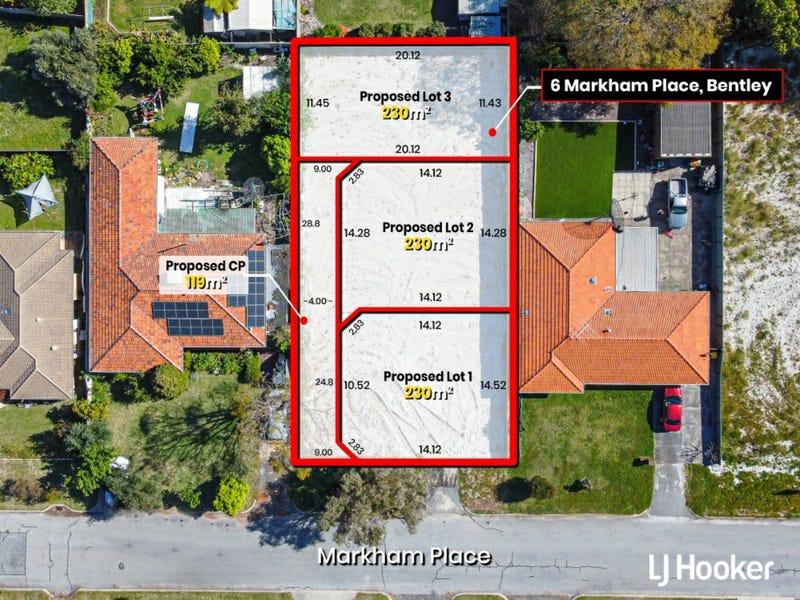 Lot 1, 2 & 3, 6 Markham Place, Bentley, WA 6102