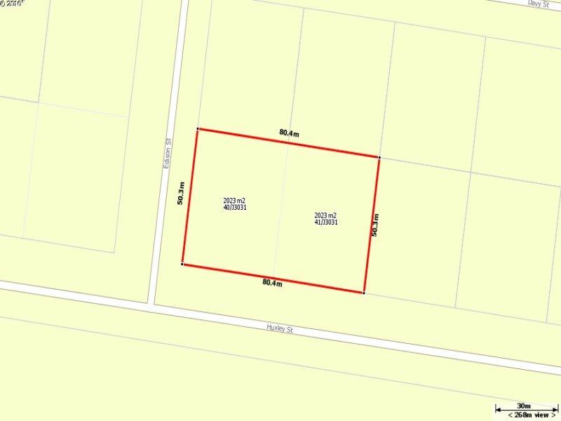 Lot 40/J3031, 2023m2 Corner block, shed Pad with DA, 3 phase power. 22Huxley, Jericho, Qld 4728