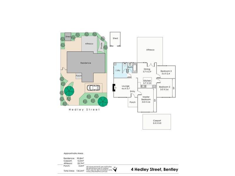 4 Hedley Street, Bentley, WA 6102 - floorplan
