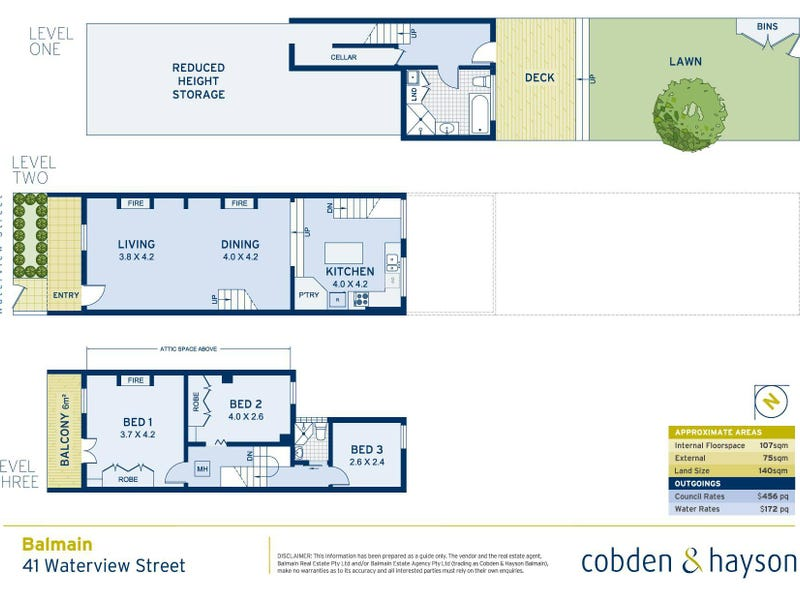 41 Waterview Street, Balmain, NSW 2041 - floorplan