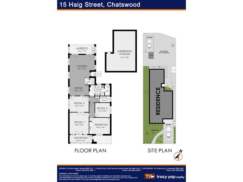 15 Haig Street, Chatswood, NSW 2067 - floorplan