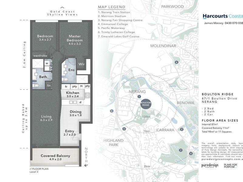 47/1 Boulton Drive, Nerang, Qld 4211 - floorplan