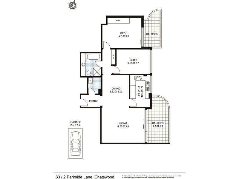 33/2 Parkside Lane, Chatswood, NSW 2067 - floorplan