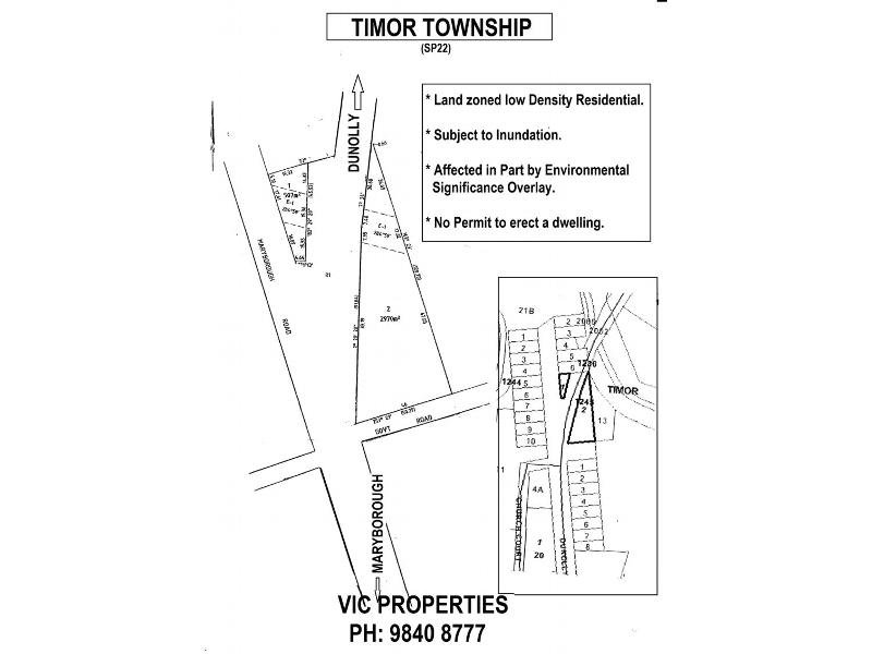 Lot 1/1245 Dunolly-Timor Road, Timor, Vic 3465