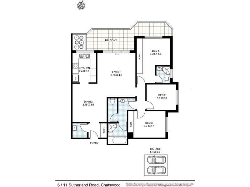 6/11-13 Sutherland Road, Chatswood, NSW 2067 - floorplan