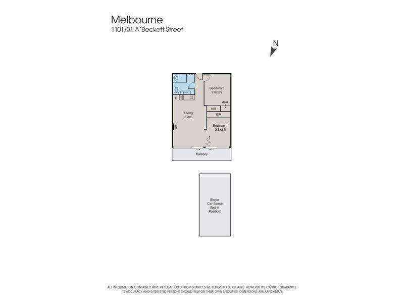 1101/31 A'beckett Street, Melbourne, Vic 3000 - floorplan