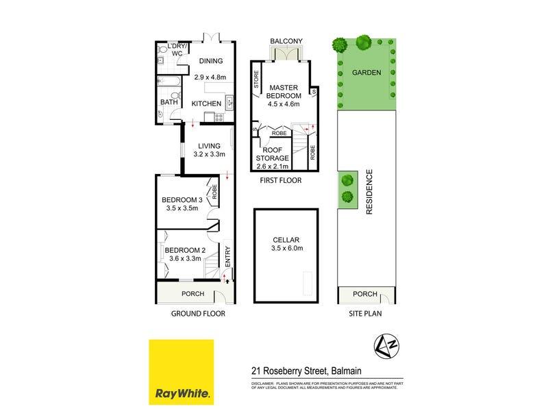 21 Roseberry Street, Balmain, NSW 2041 - floorplan