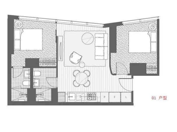 3901/350 Queen Street, Melbourne, Vic 3000 - floorplan