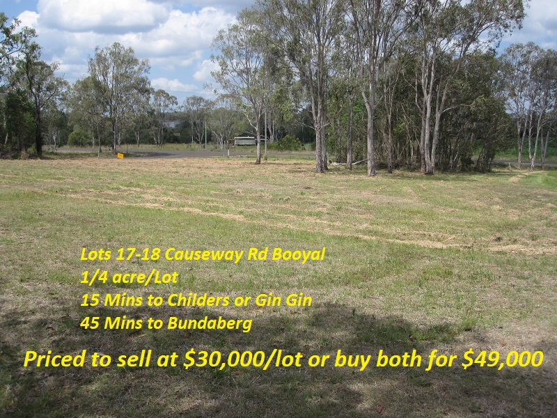Lots 17 & 18 Causeway Road, Booyal, Qld 4671