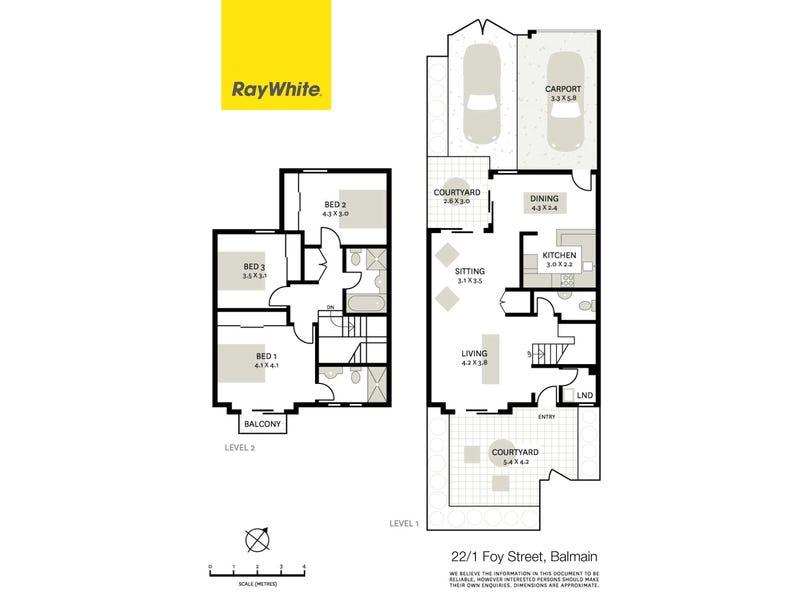 22/1 Foy Street, Balmain, NSW 2041 - floorplan