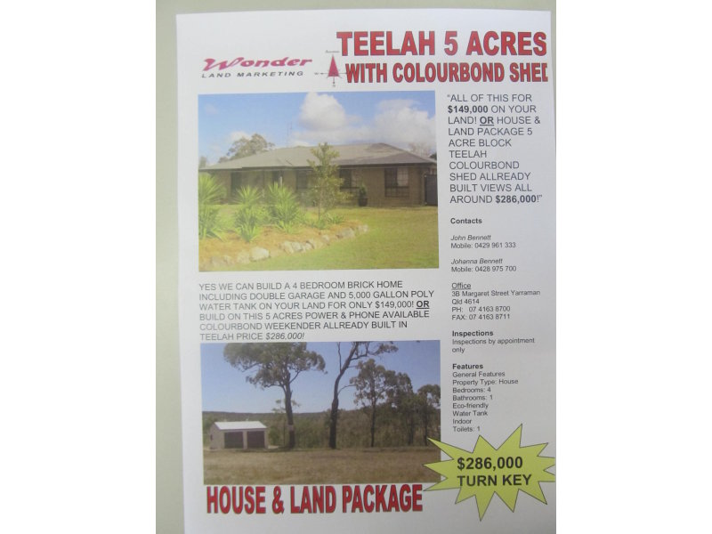 Address available on request, Teelah, Qld 4306