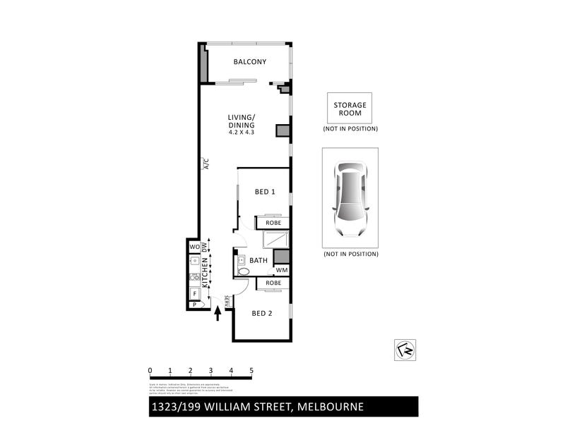 1323/199 William Street, Melbourne, Vic 3000 - floorplan