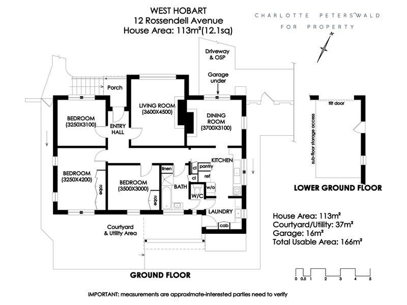 12 Rossendell Avenue, West Hobart, Tas 7000 - floorplan
