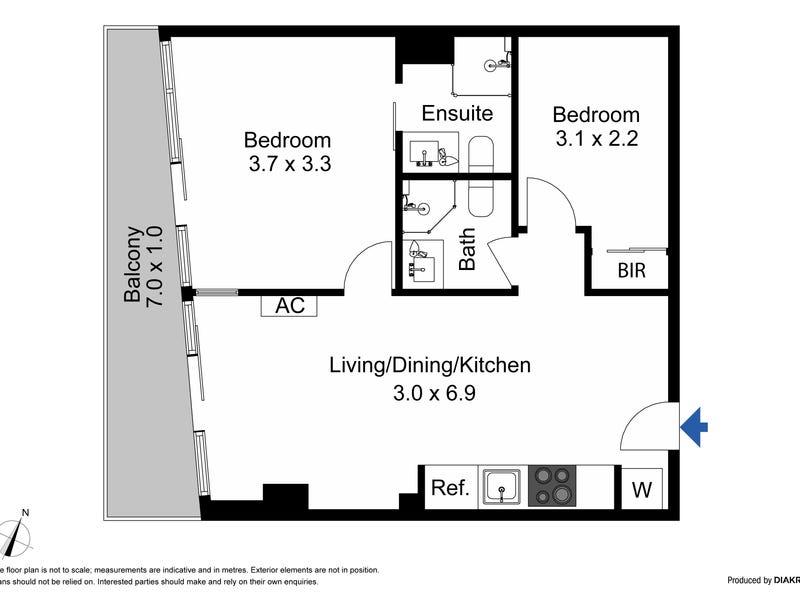 2303/8 Exploration Lane, Melbourne, Vic 3000 - floorplan