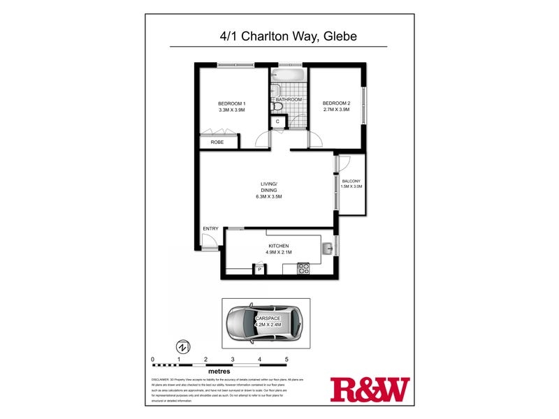 4/1 Charlton Way, Glebe, NSW 2037 - floorplan