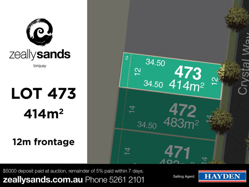 Lot 473 Zeally Sands  Estate, Torquay, Vic 3228