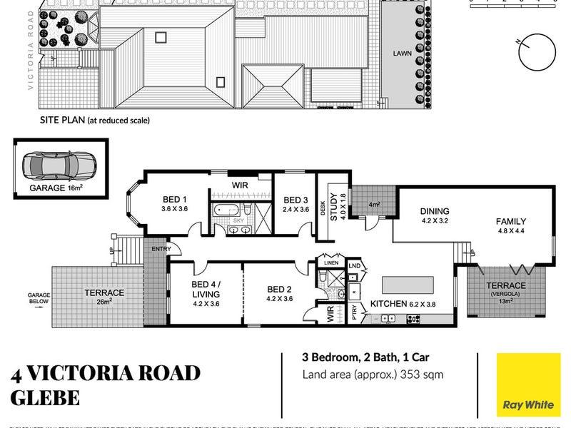 4 Victoria Road, Glebe, NSW 2037 - floorplan
