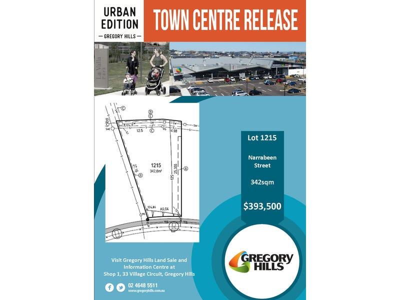 Lot 1215 Narrabeen Street, Gregory Hills, NSW 2557